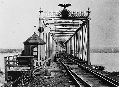 History of the First Railroad Bridge Crossing of the