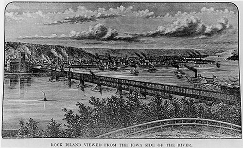 old midwest bridges history of the first railroad bridge crossing of the mississippi
